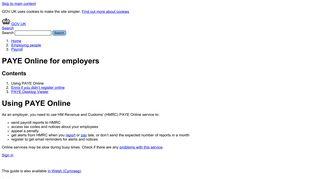 PAYE Online for employers - GOV.UK