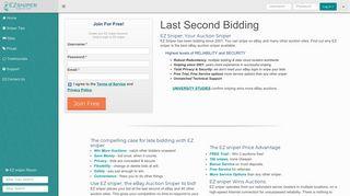 EZ sniper : Free ebay auction sniper software. Snipe auctions online ...
