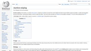 Auction sniping - Wikipedia