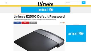Linksys E2500 Default Password - Lifewire