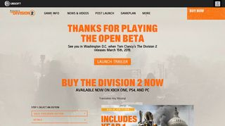 The Division 2 Open Beta Sign-up & FAQ | Ubisoft (US)
