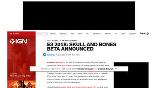 E3 2018: Skull and Bones Beta Announced - IGN