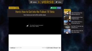 'Fallout 76' Beta Sign-Up: How To Get Into the Early Online Test | Inverse