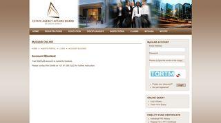 Account Blocked | EAAB - The Estate Agency Affairs Board