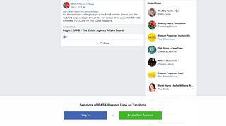 http://www.eaab.org.za/myffc/login For... - IEASA Western ... - Facebook