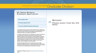 UCSB Graduate Division Electronic Application