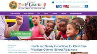 Health & Safety   OEL - Florida Early Learning
