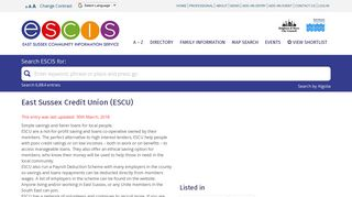 East Sussex Credit Union (ESCU) - ESCIS