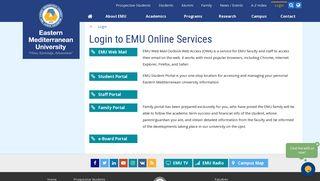 Login - Eastern Mediterranean University