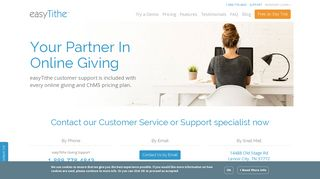 easyTithe Customer Service and Support