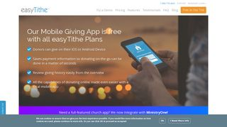 Get a Church Online Giving App with easyTithe