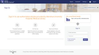 Sign In to use authoritative ebooks provided by ... - Ebook Central