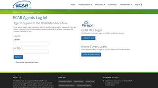 ECAR Agent Log In - East Central Association of REALTORS