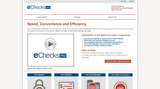 eChecksPRO: The Confidence of a check — the Speed of an email