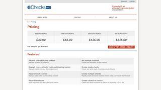 eChecksPro | Pricing