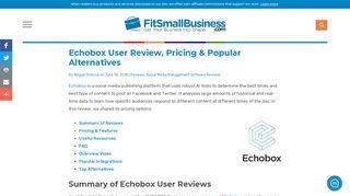 Echobox User Review, Pricing & Popular Alternatives