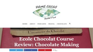 Review: Chocolate Making Course with Ecole Chocolat - Dame Cacao