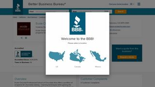 Ecole Chocolat | Better Business Bureau® Profile