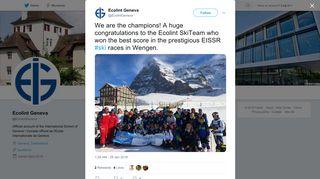 Ecolint Geneva on Twitter: