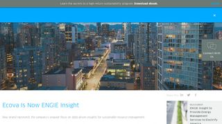 Ecova Is Now ENGIE Insight
