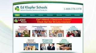 Real Estate School | Ed Klopfer Real Estate Courses CE | FL