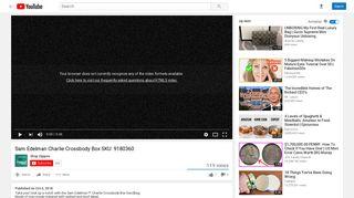 Sam Edelman Charlie Crossbody Box SKU: 9180360 - YouTube