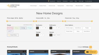 Home Designs - Eden Brae Homes