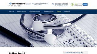 Patient Portal - Edison Medical - Edison Medical Associates