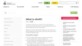 eDofE – The Duke of Edinburgh's Award