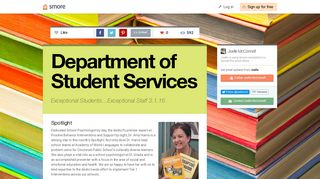 Department of Student Services   Smore Newsletters for Education