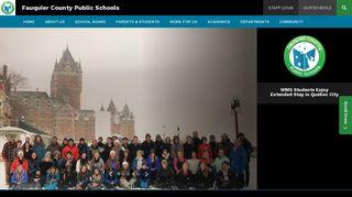 Fauquier County Public Schools / Homepage