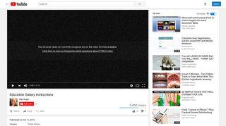 Education Galaxy Instructions - YouTube