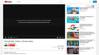 4th Grade Math - Patterns - Education Galaxy - YouTube