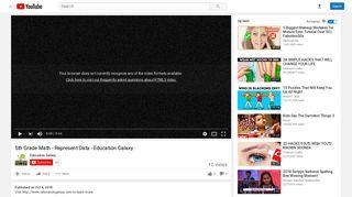 5th Grade Math - Represent Data - Education Galaxy - YouTube