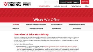 What We Offer - Overview | Educators Rising