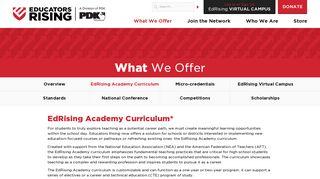 EdRising Academy Curriculum | Educators Rising