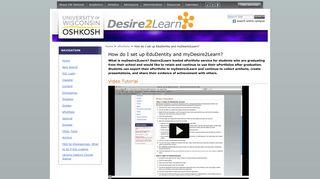 How do I set up EduDentity and myDesire2Learn? — UW Oshkosh ...