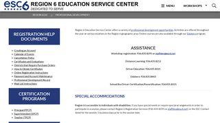 Professional Development - Region 6 Education Service Center