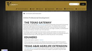 Online Professional Development - Liberty Independent School District