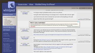 EduMail Setup On iPhone? - iPhone - Whirlpool Forums