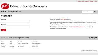 Login - Edward Don & Company