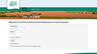 Login - Government of Prince Edward Island