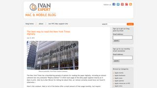 The best way to read the New York Times digitally   The IvanExpert ...