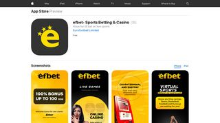 efbet- Sports Betting & Casino on the App Store - iTunes - Apple