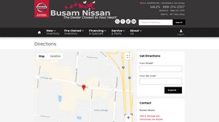 Directions | Busam Nissan