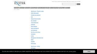 MyExeter - University of Exeter