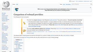 Comparison of webmail providers - Wikipedia