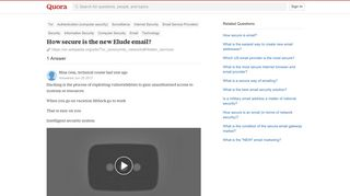 How secure is the new Elude email? - Quora