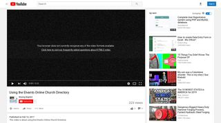 Using the Elvanto Online Church Directory - YouTube