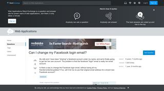 Can I change my Facebook login email? - Web Applications Stack ...